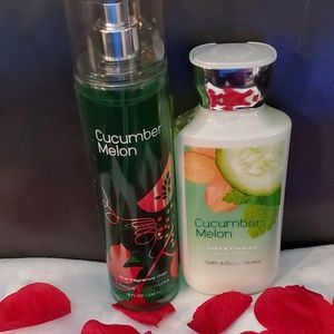 Bath & Body Works full size set - Cucumber Melon